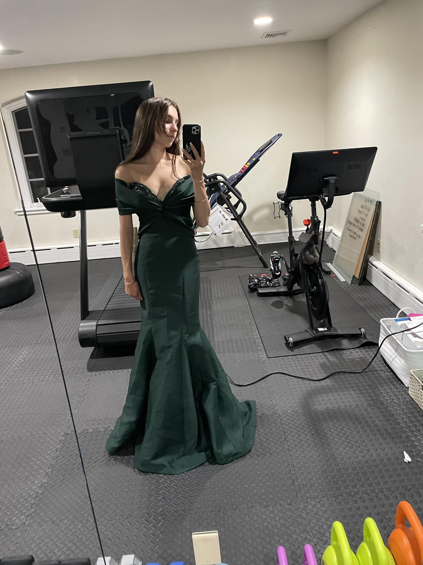Tarik Ediz Green Size 0 Tall Height Mermaid Dress on Queenly