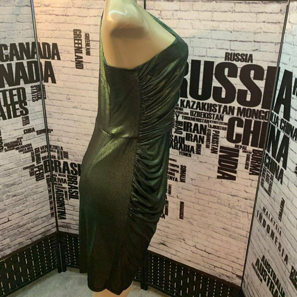 Donna Morgan Green Size 12 Plus Size Mini Cocktail Dress on Queenly