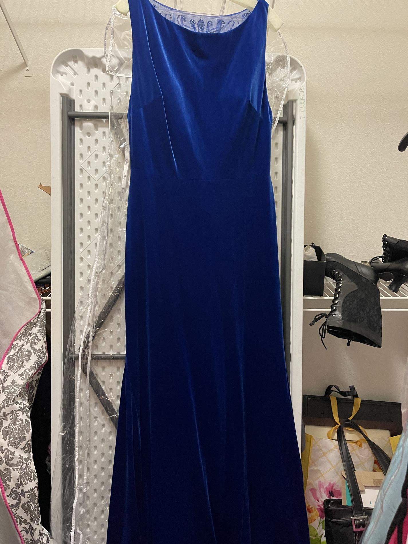 Tiffany Designs Blue Size 16 Prom Jewelled Straight Dress on Queenly