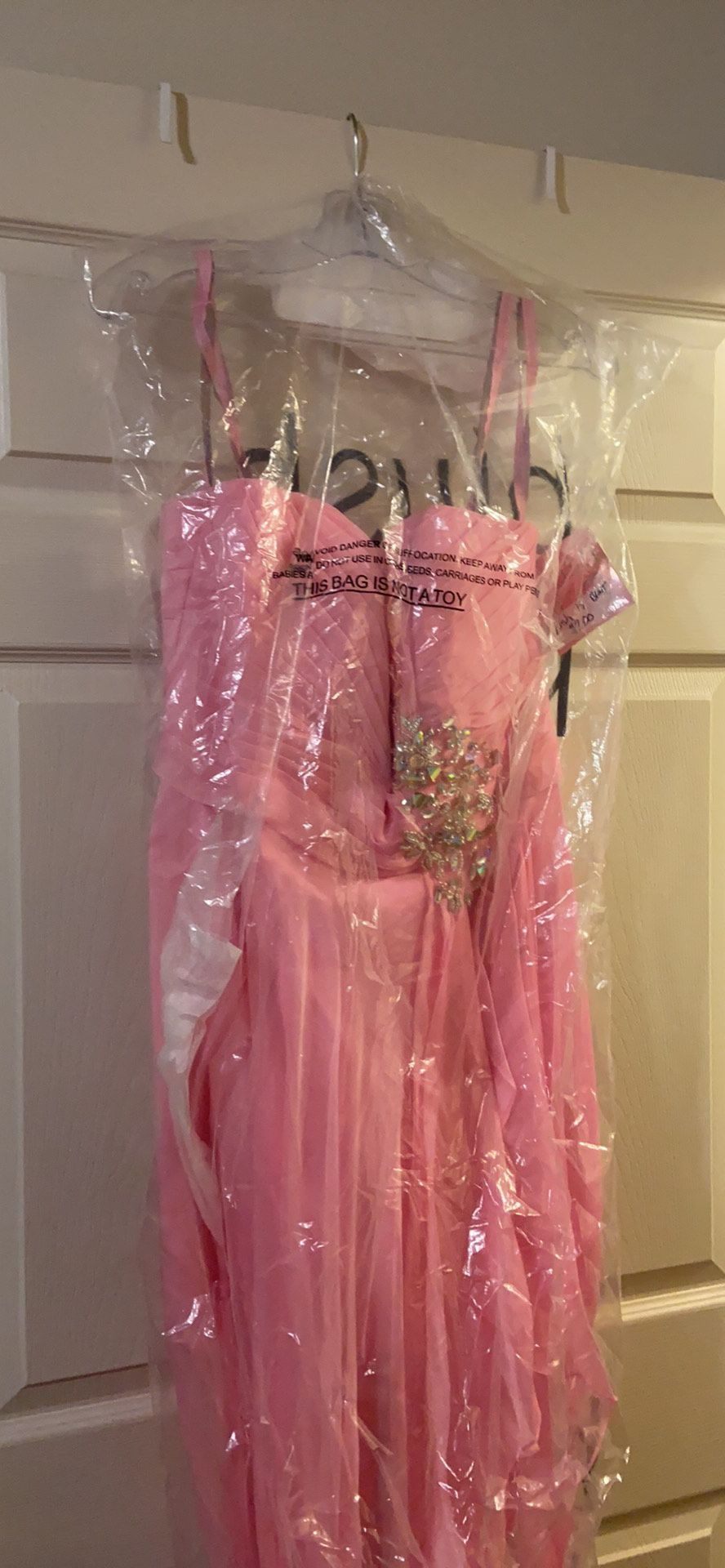 Blush Pink Size 18 Jewelled Sequin Fun Fashion Homecoming Cocktail Dress on Queenly