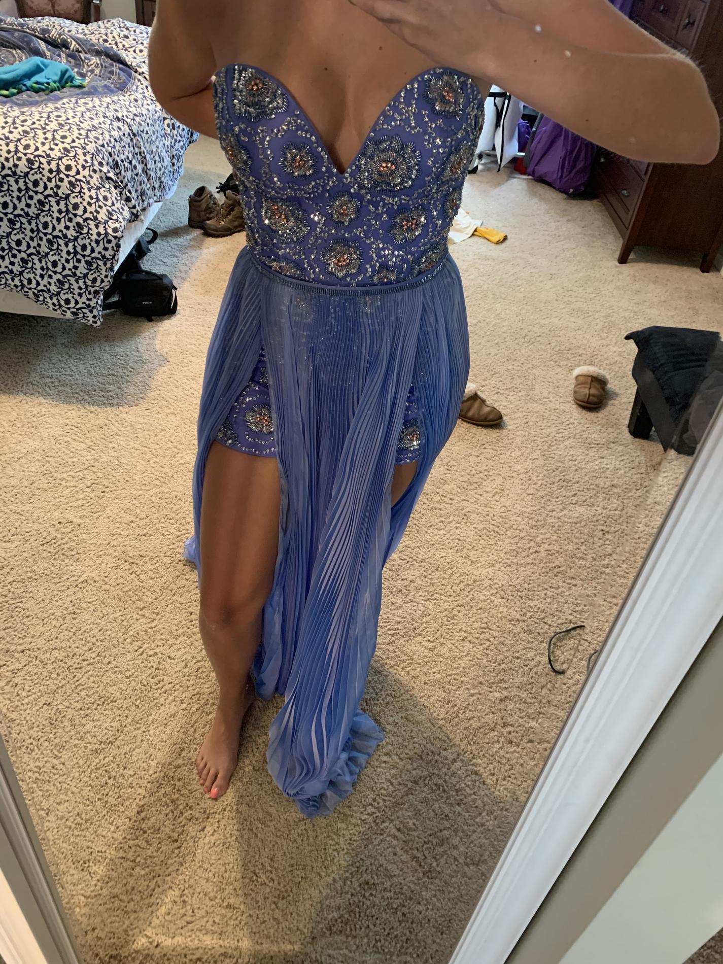 Rachel Allan Purple Size 2 Jumpsuit Mini Straight Dress on Queenly