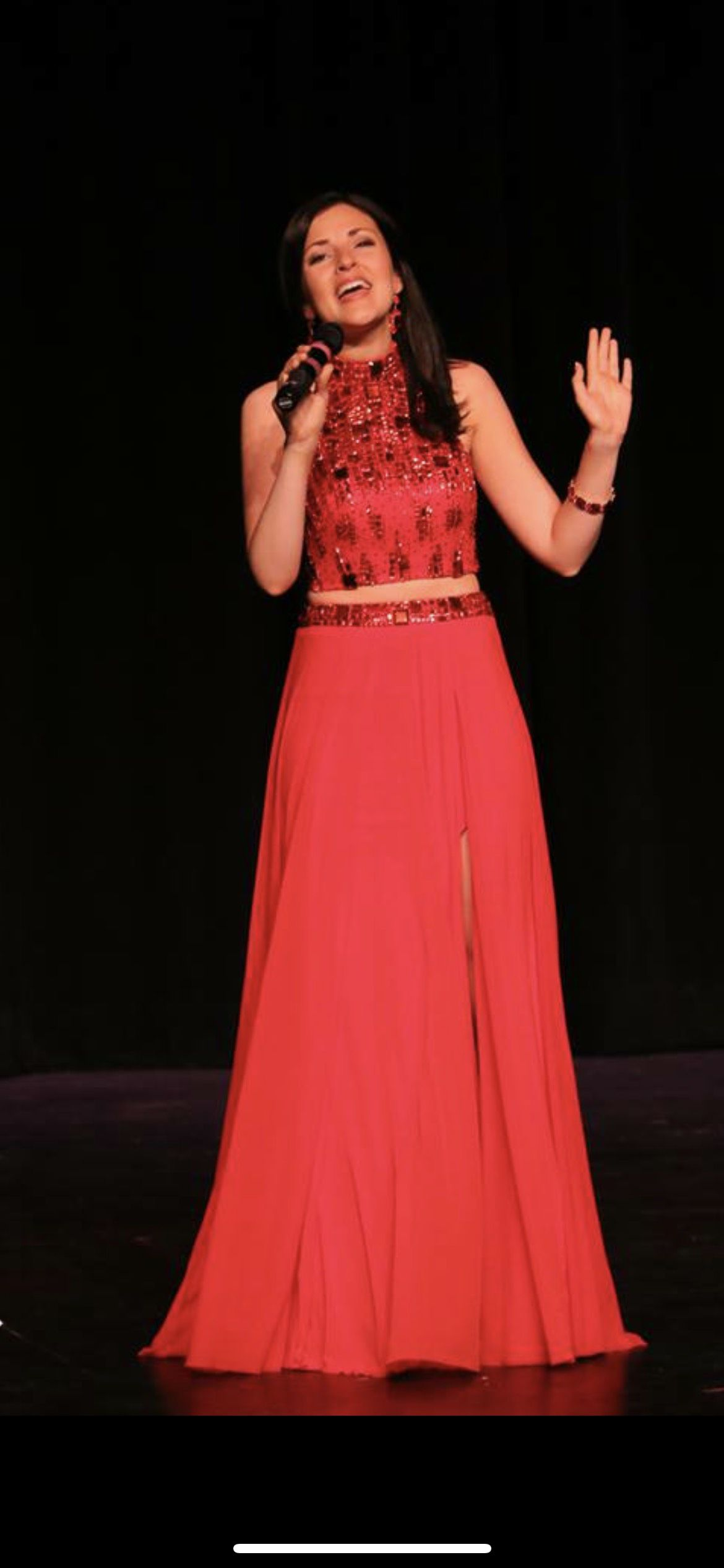 Sherri Hill Red Size 2 Prom Pageant Halter Straight Dress on Queenly