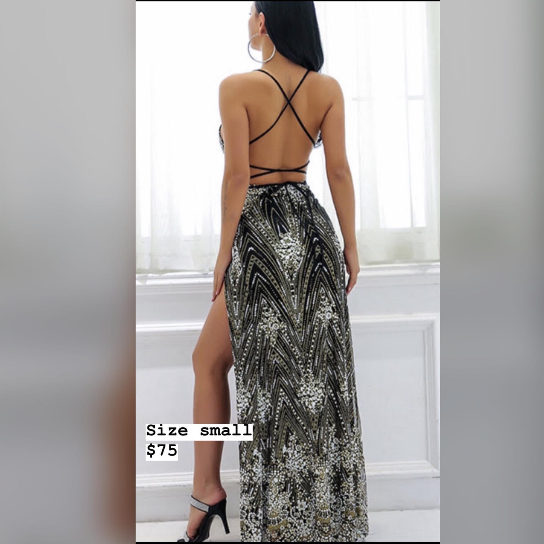 Black Size 4 Side slit Dress on Queenly