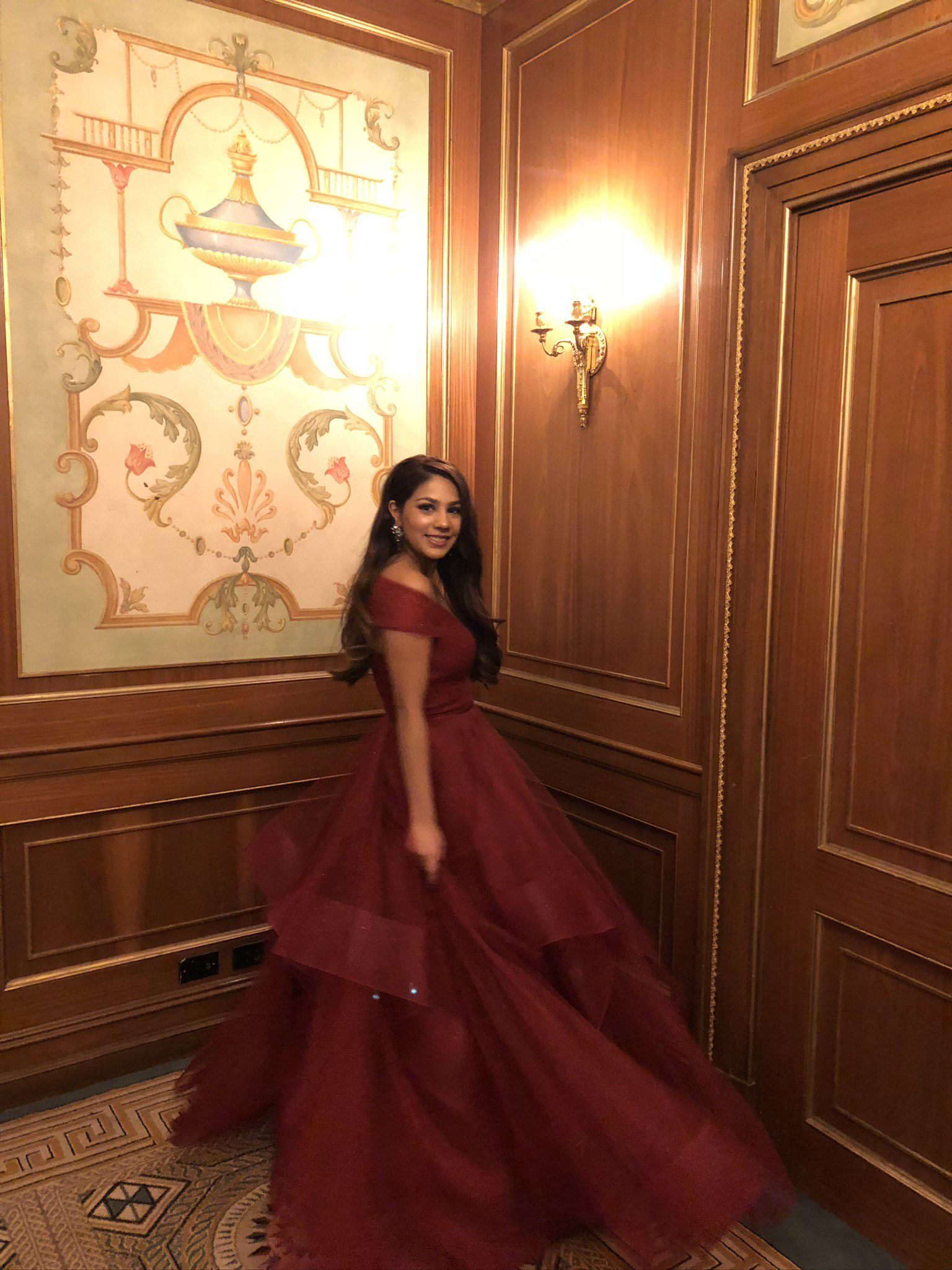 Terani Couture Red Size 2 Burgundy Prom Ruffles Ball gown on Queenly
