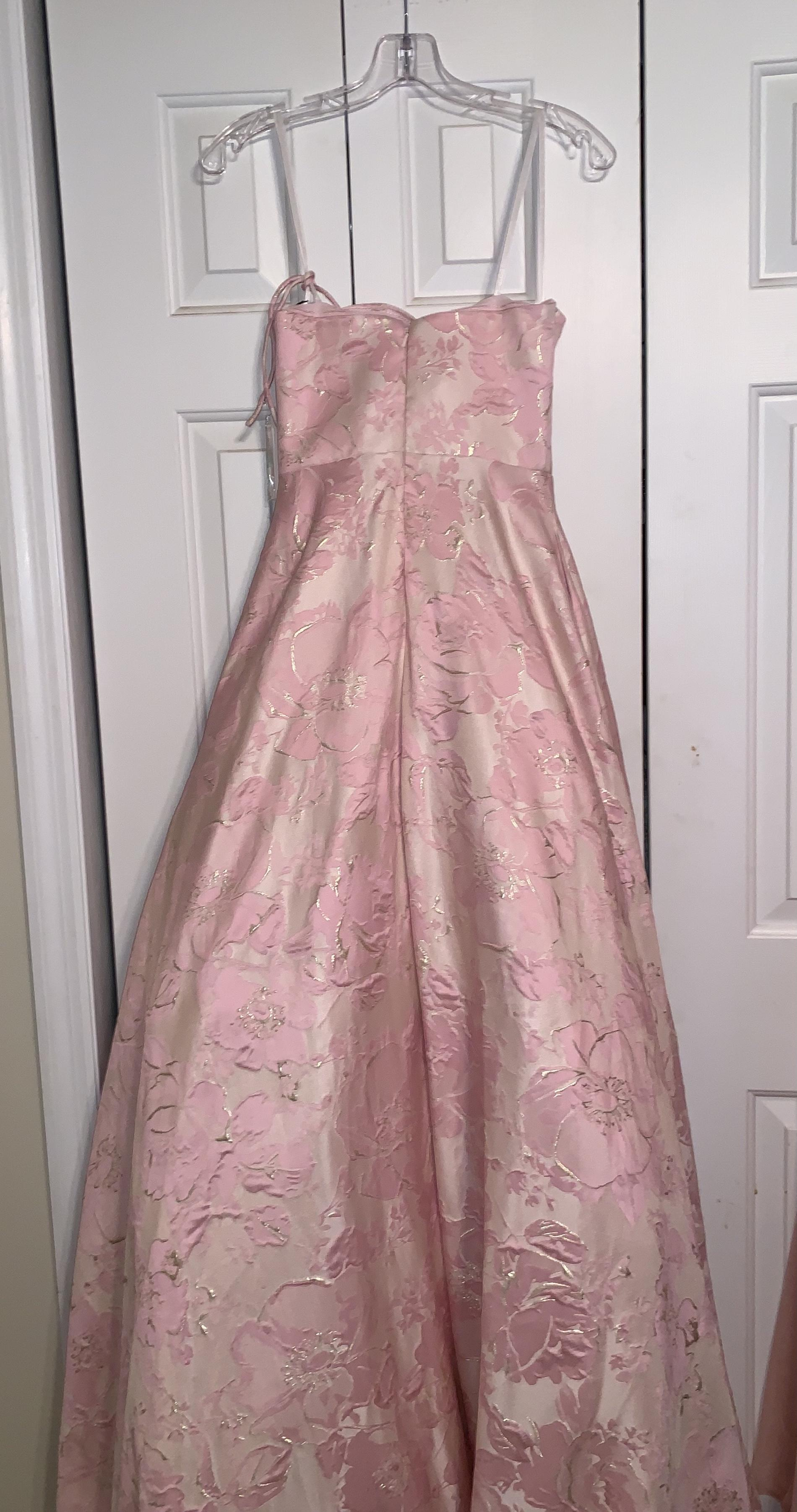 Alyce Pink Size 0 Floral Ball gown on Queenly