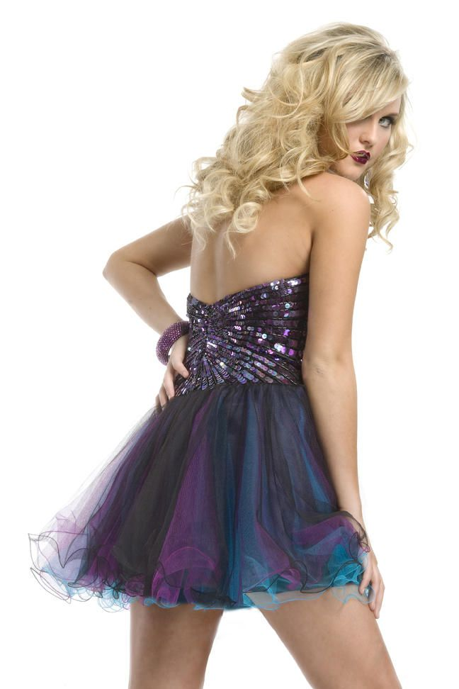 Style 6940 Rachel Allan Black Size 8 Homecoming Flare Tall Height Cocktail Dress on Queenly