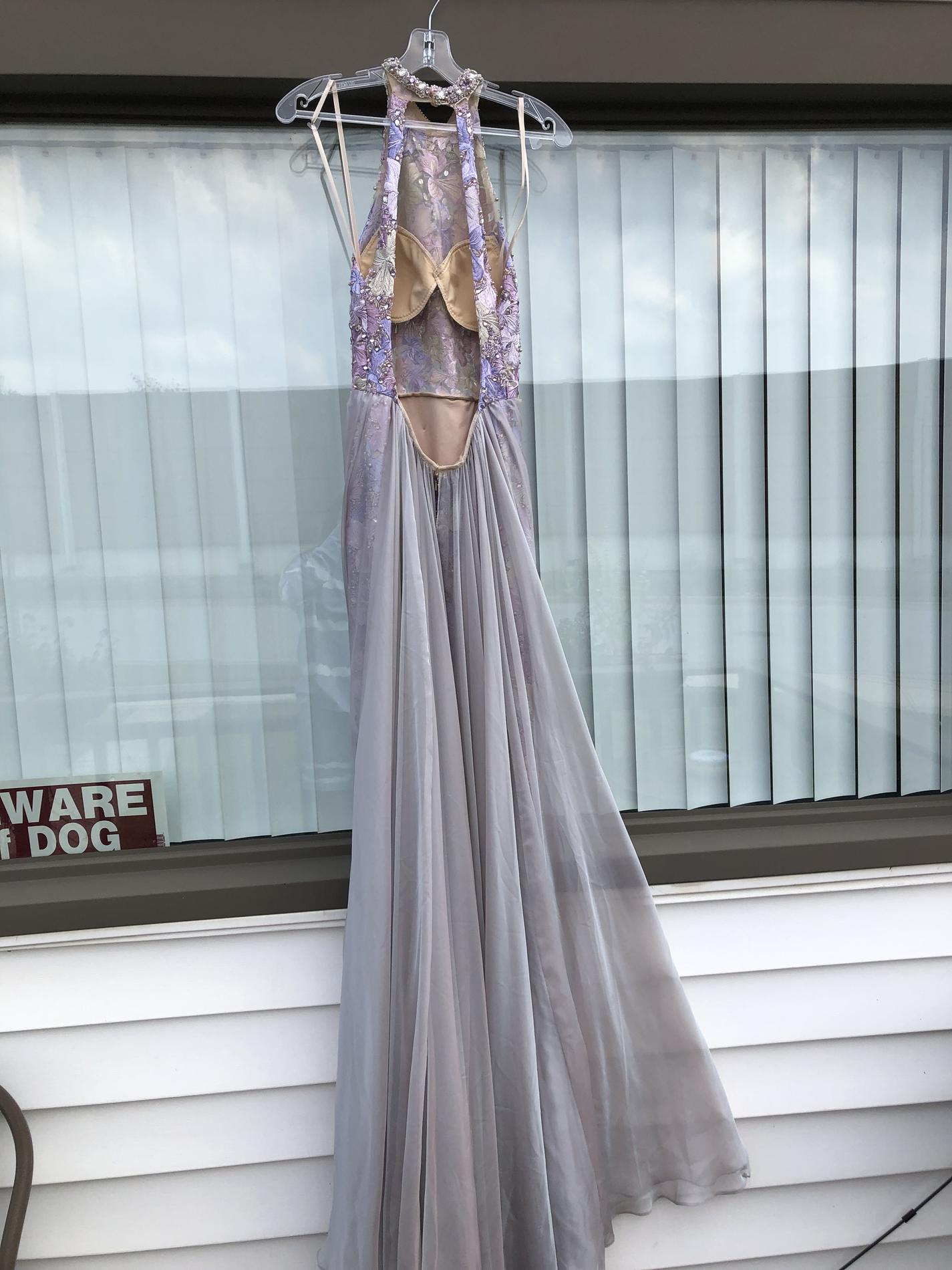 Mac Duggal Purple Size 4 Pageant Train Straight Dress on Queenly