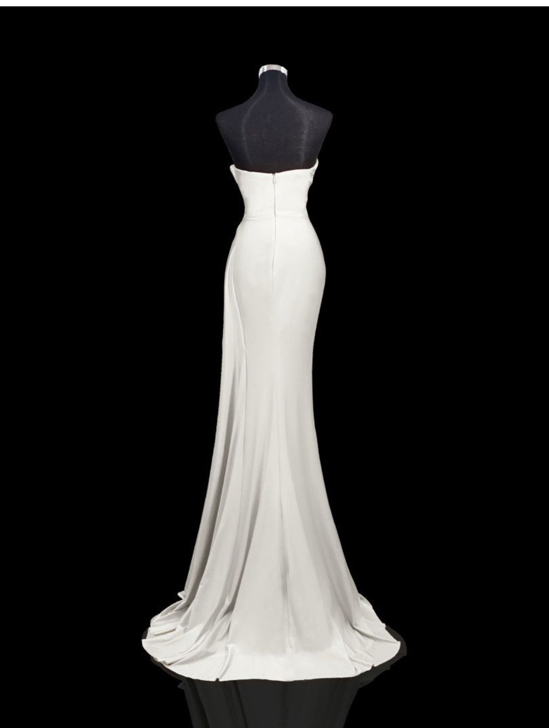 Portia & Scarlett White Size 4 Wedding Sequin Mermaid Dress on Queenly