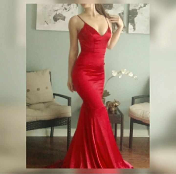 Portia & Scarlett Red Size 2 Bodycon Homecoming Backless Wedding Guest Mermaid Dress on Queenly