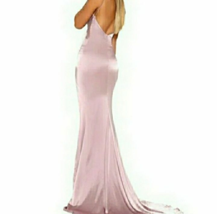 Portia & Scarlett Pink Size 0 Silk Bodycon Backless Wedding Guest Straight Dress on Queenly