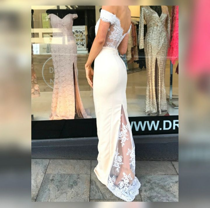 Portia & Scarlett Nude Size 00 Homecoming Backless Wedding Guest Mermaid Dress on Queenly