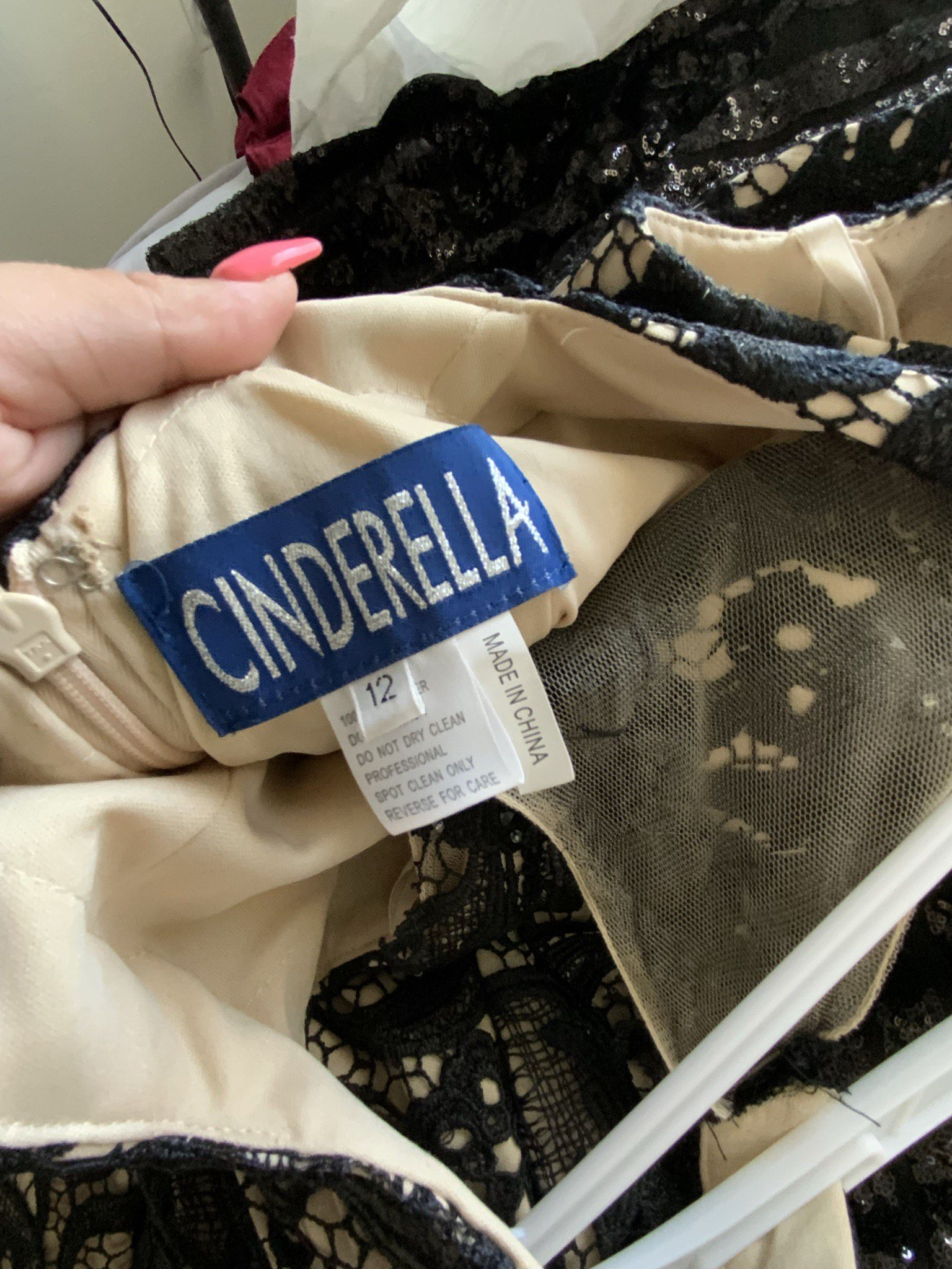 Cinderella Black Size 12 Homecoming Mini Wedding Guest Cocktail Dress on Queenly