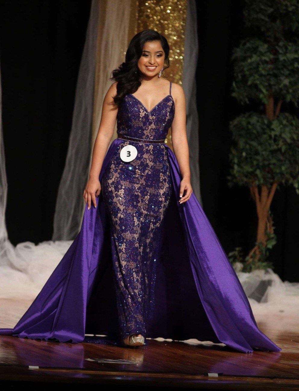 Johnathan Kayne Purple Size 6 Pageant Train A-line Dress on Queenly