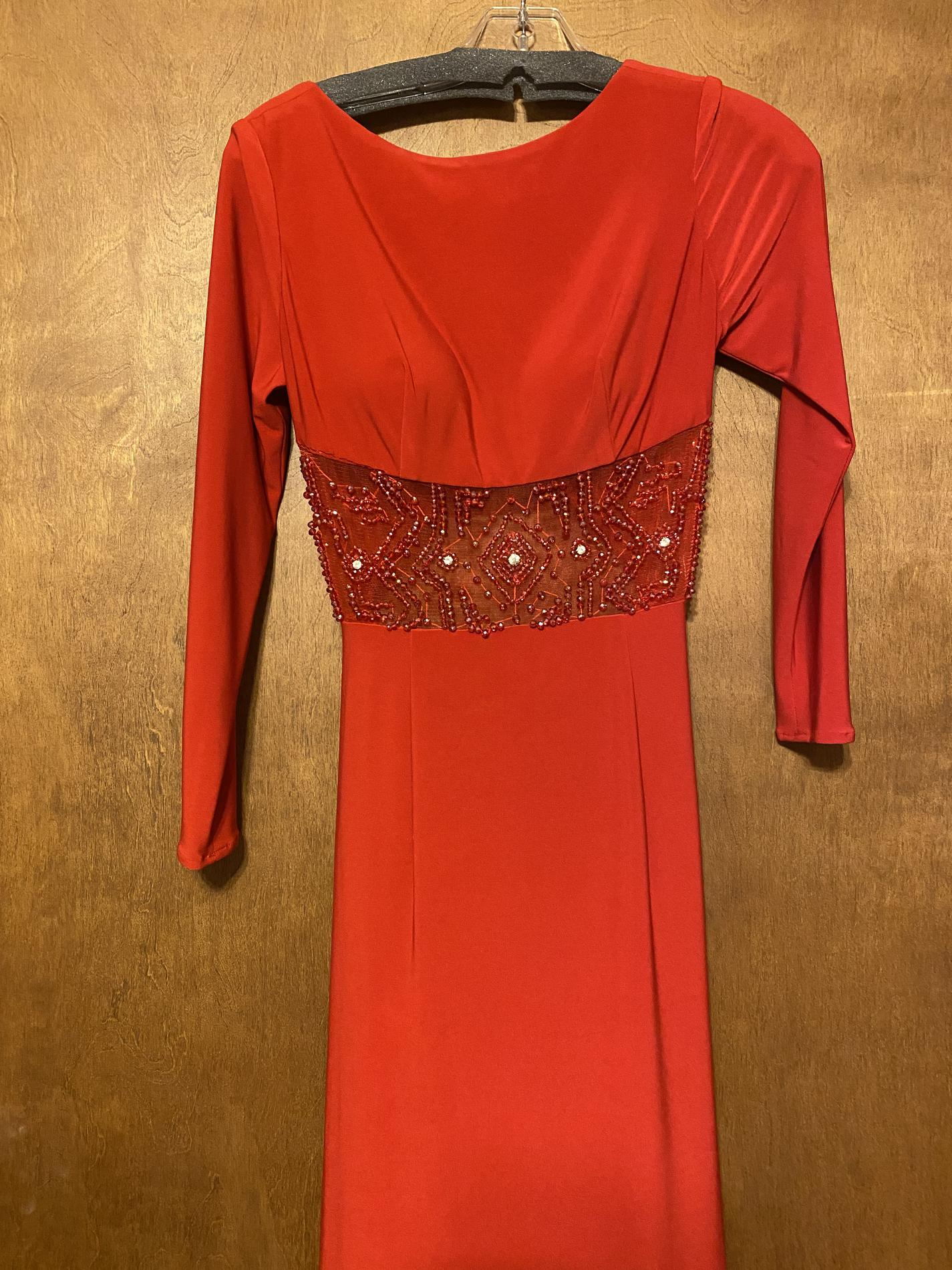 Sherri Hill Red Size 4 Pageant Short Height Backless Sheer Straight Dress on Queenly