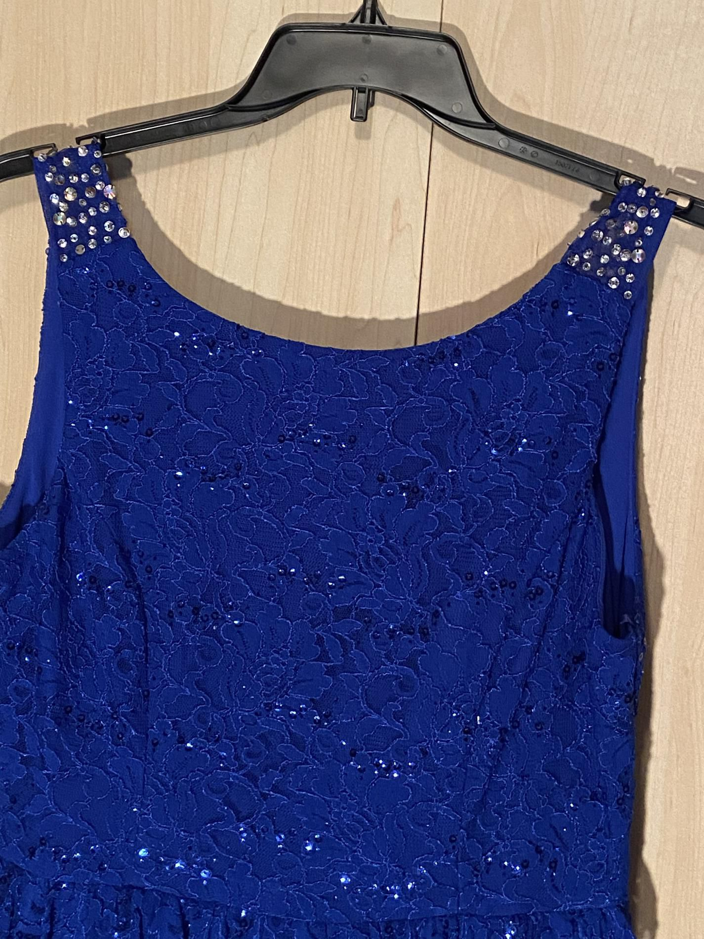 City triangles Blue Size 12 Wedding Guest A-line Dress on Queenly