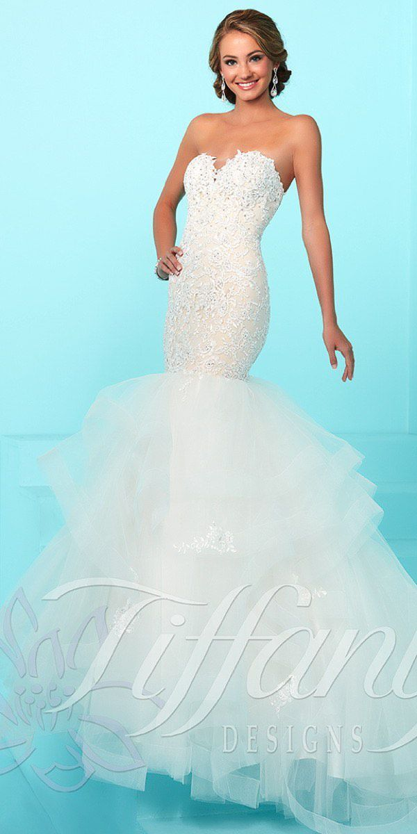 Tiffany Designs White Size 12 Pageant Sweetheart Plus Size Mermaid Dress on Queenly