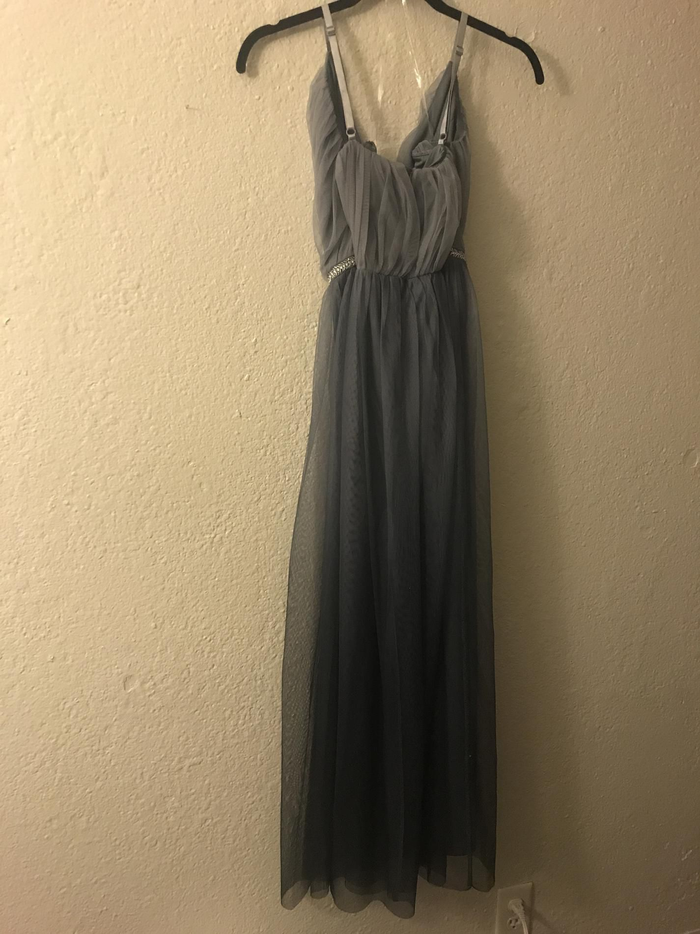 Candalit Silver Size 6 Wedding Guest Straight Dress on Queenly