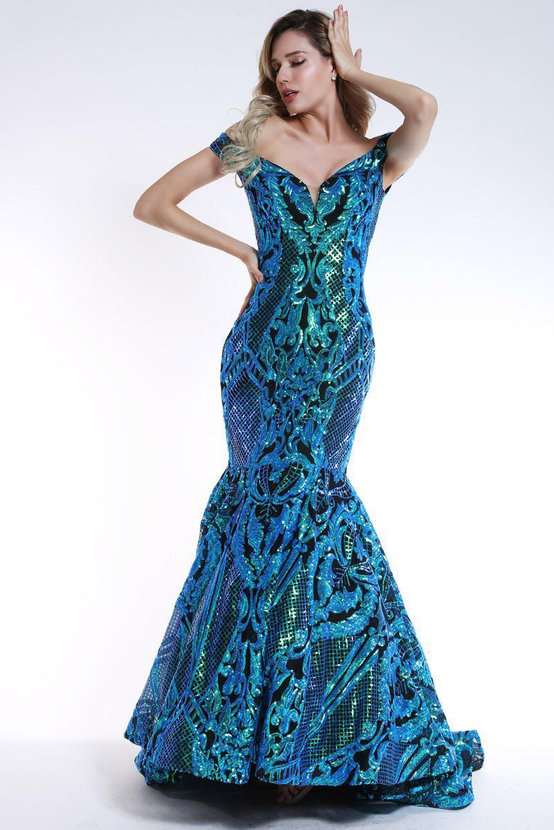 Style 35754 Ava Presley Green Size 6 Prom Tall Height Mermaid Dress on Queenly