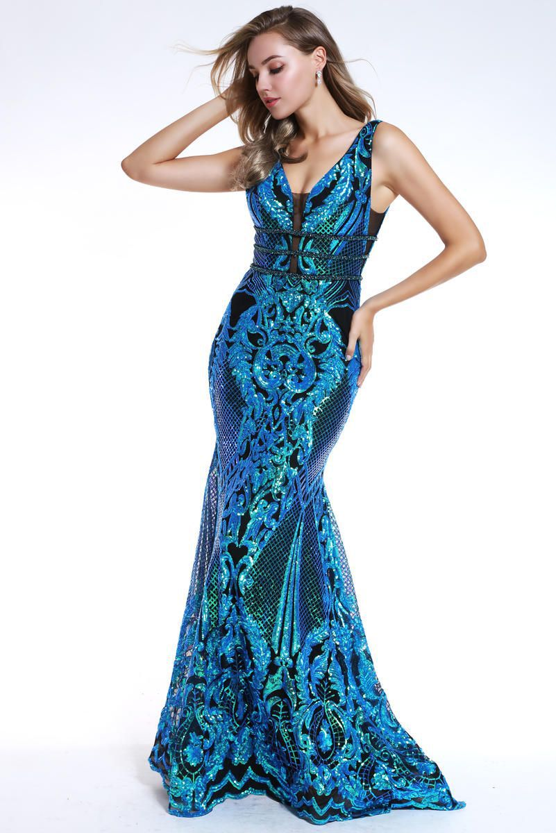Style 35756 Ava Presley Green Size 0 Pageant Tall Height Mermaid Dress on Queenly