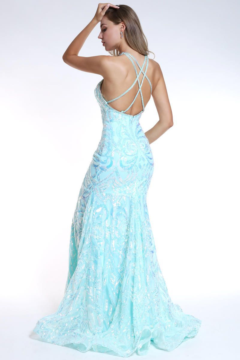 Style 35769 Ava Presley Green Size 4 Pageant Tall Height Mermaid Dress on Queenly