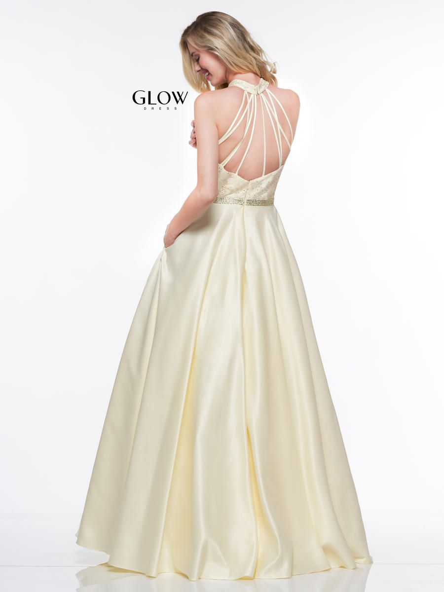Style G835 Colors Yellow Size 24 Halter Plus Size Tall Height Ball gown on Queenly