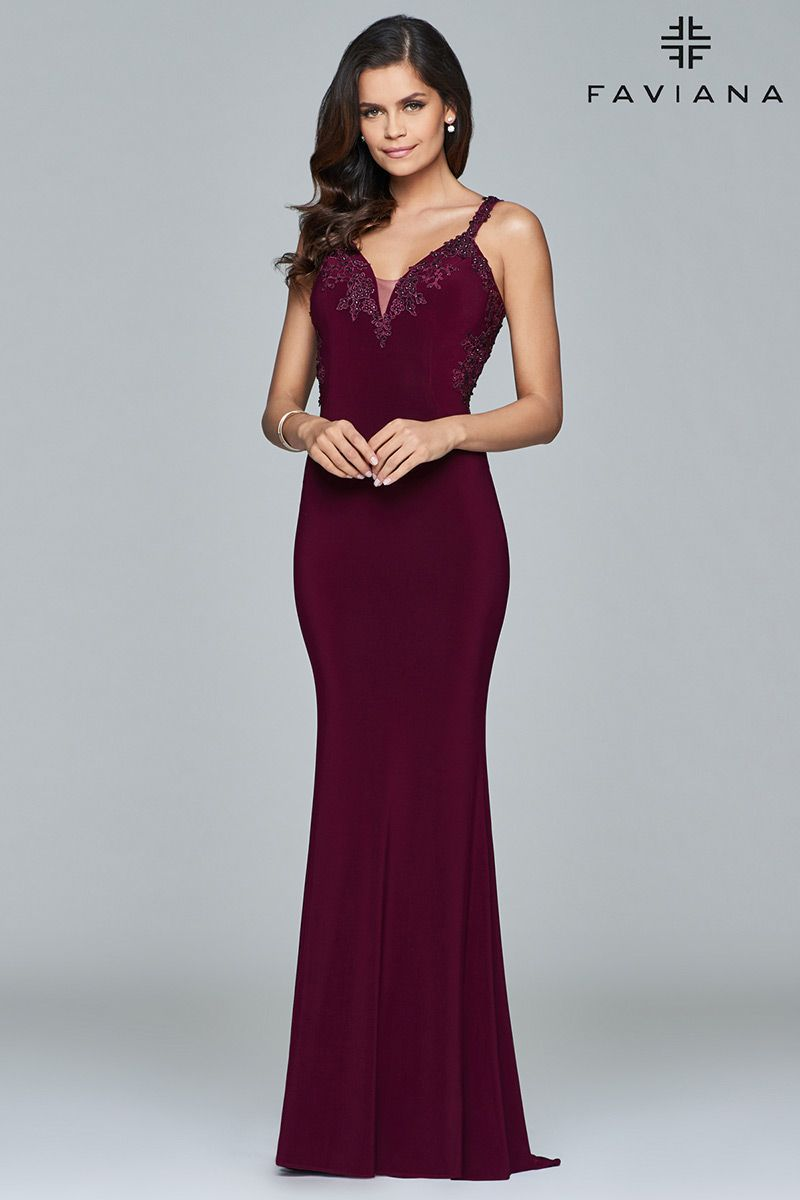 Style 7999 Faviana Red Size 6 Prom Tall Height Wedding Guest Mermaid Dress on Queenly