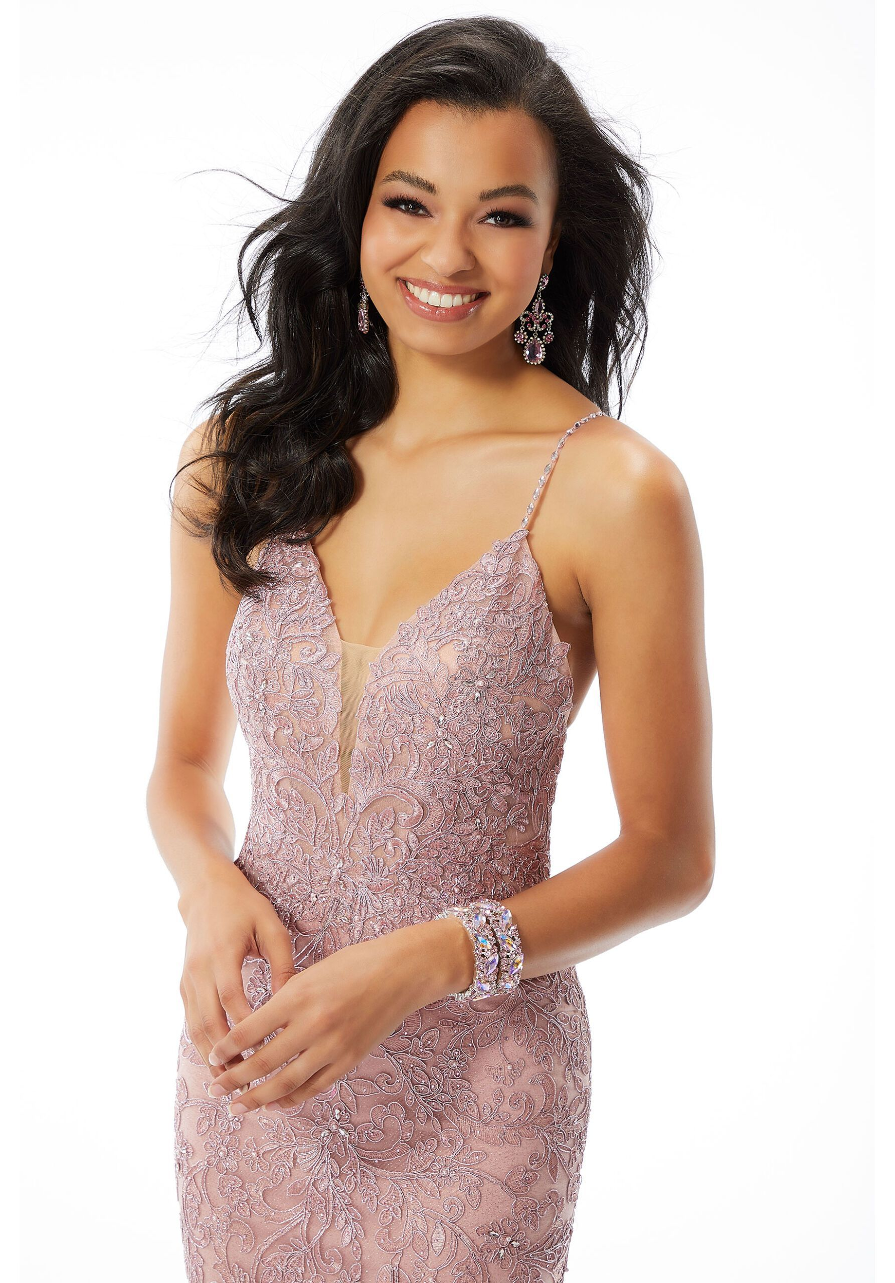 Style 45022 Mori Lee Pink Size 8 Prom Pageant Tall Height Mermaid Dress on Queenly
