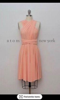 Atom New York Orange Size 12 Mini Wedding Guest Cocktail Dress on Queenly