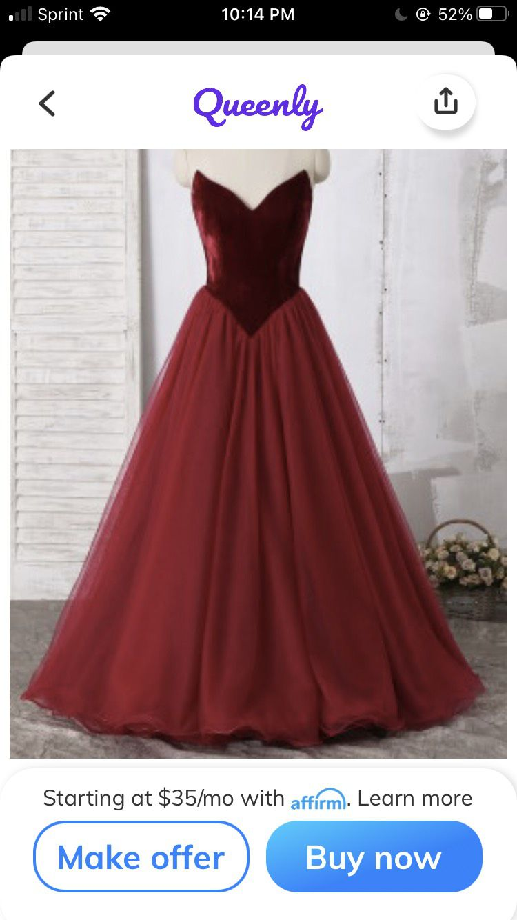 Ashley Lauren Red Size 14 Prom Pageant Plunge Ball gown on Queenly