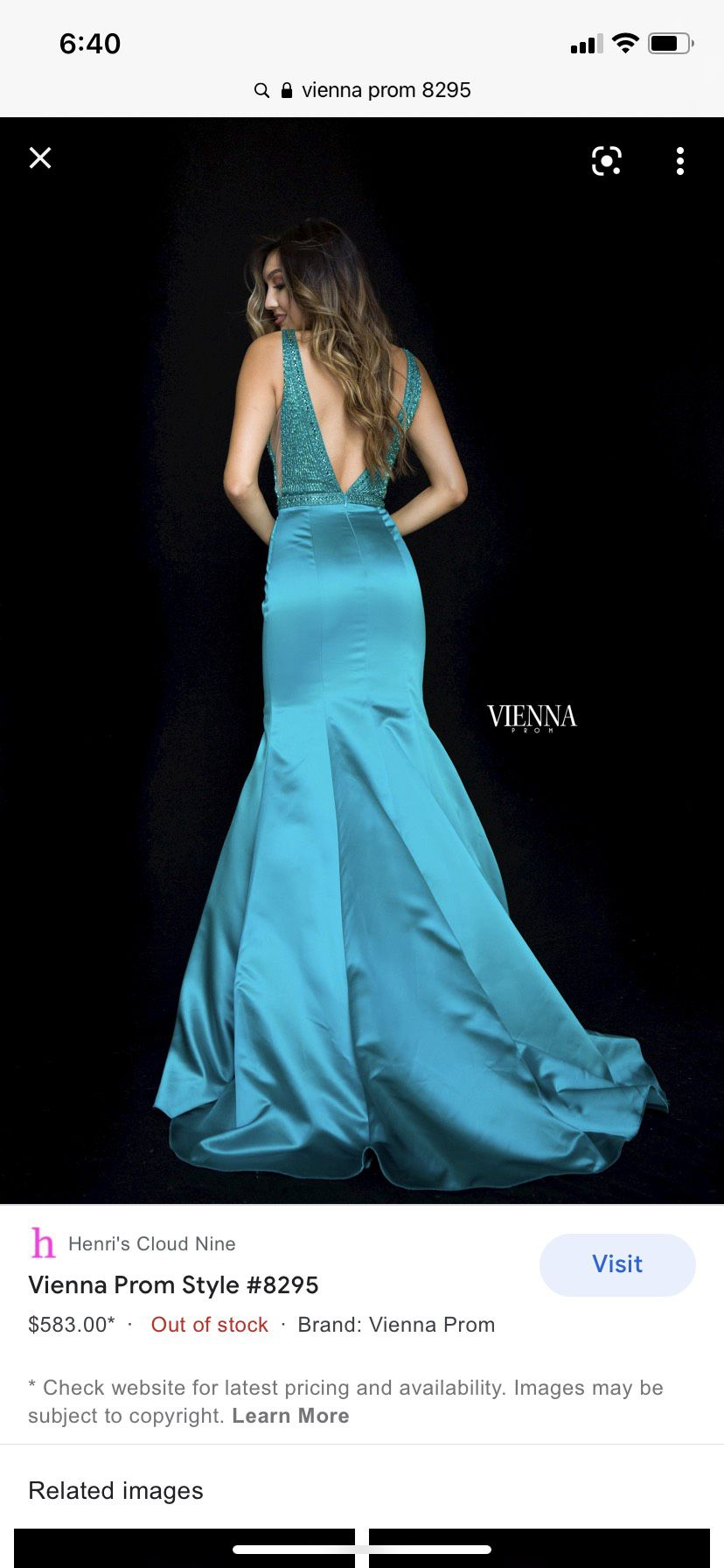 Vienna Green Size 4 Teal Sheer Pageant Mermaid Dress on Queenly
