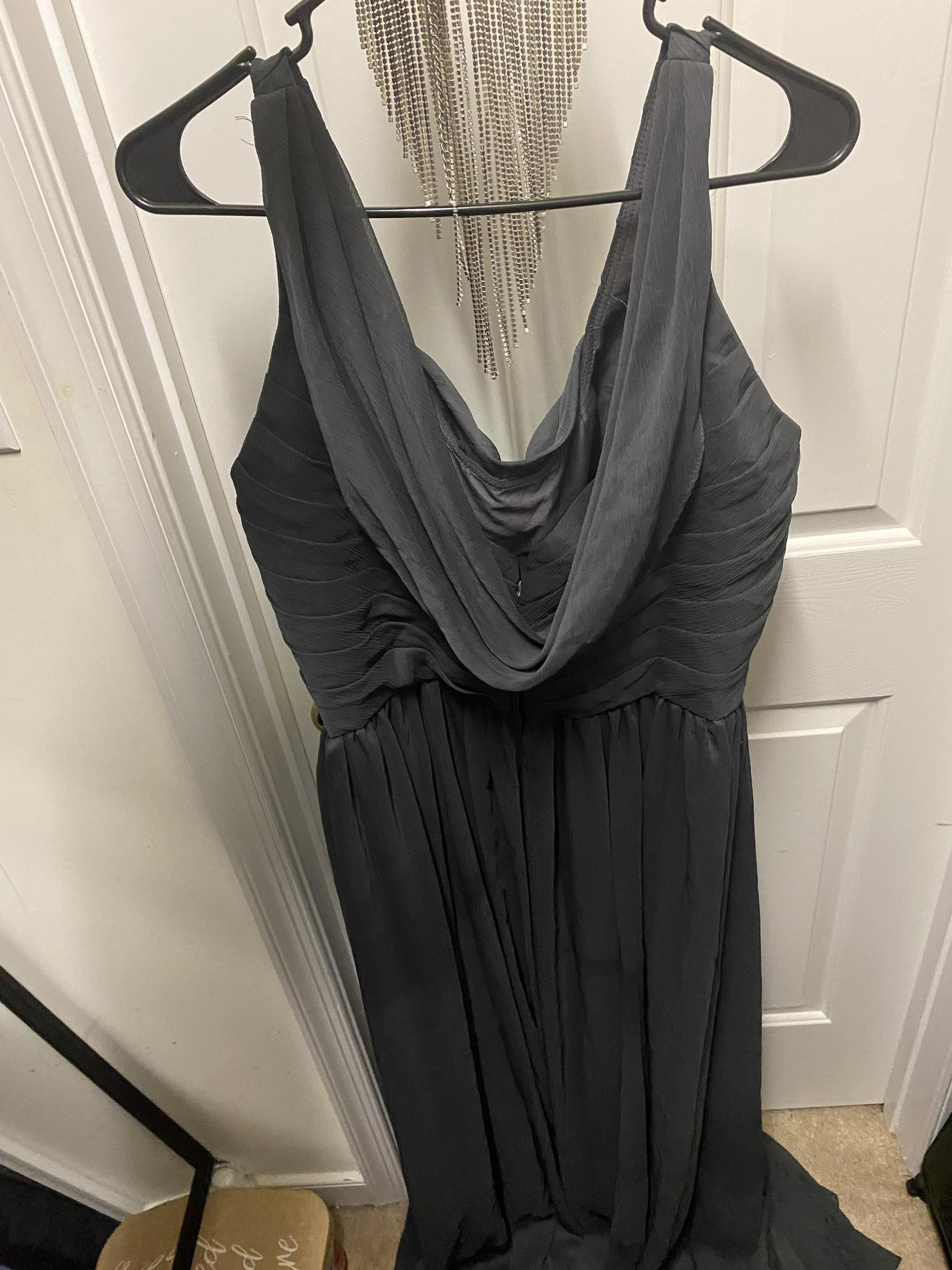 Silver Size 16 Straight Dress on Queenly