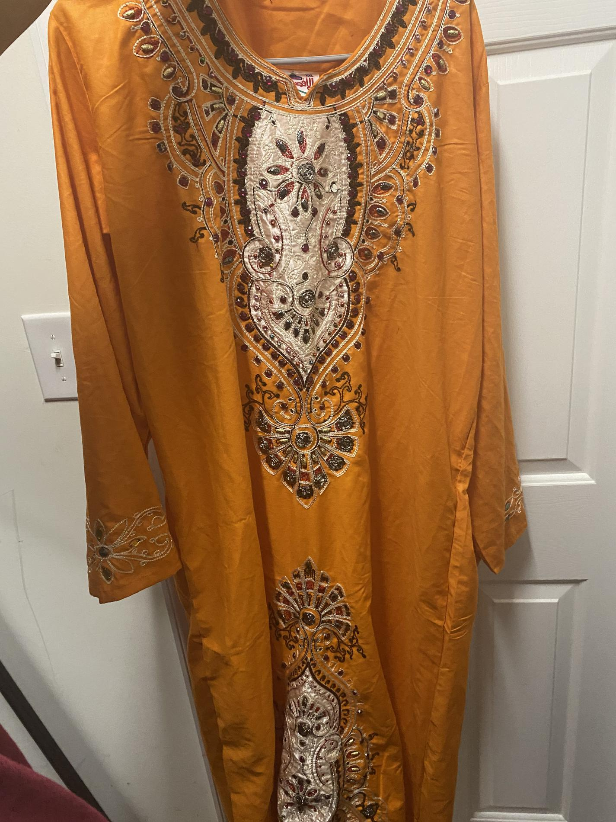 Orange Size 16 Straight Dress on Queenly