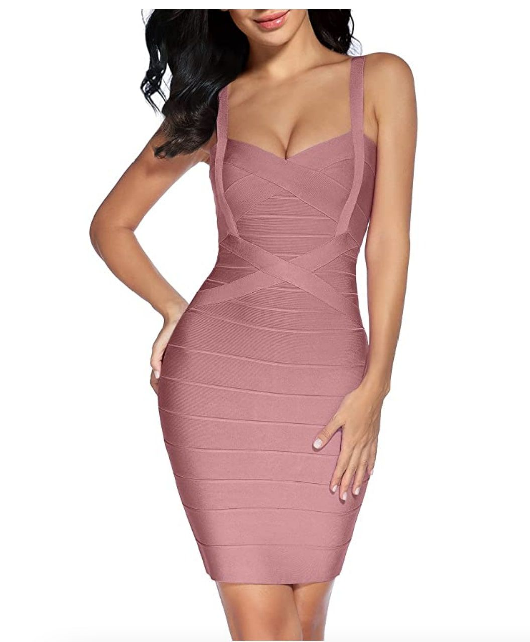 Style B07DJB7WYV Madam Uniq Pink Size 6 Sorority Formal Nightclub Cocktail Dress on Queenly