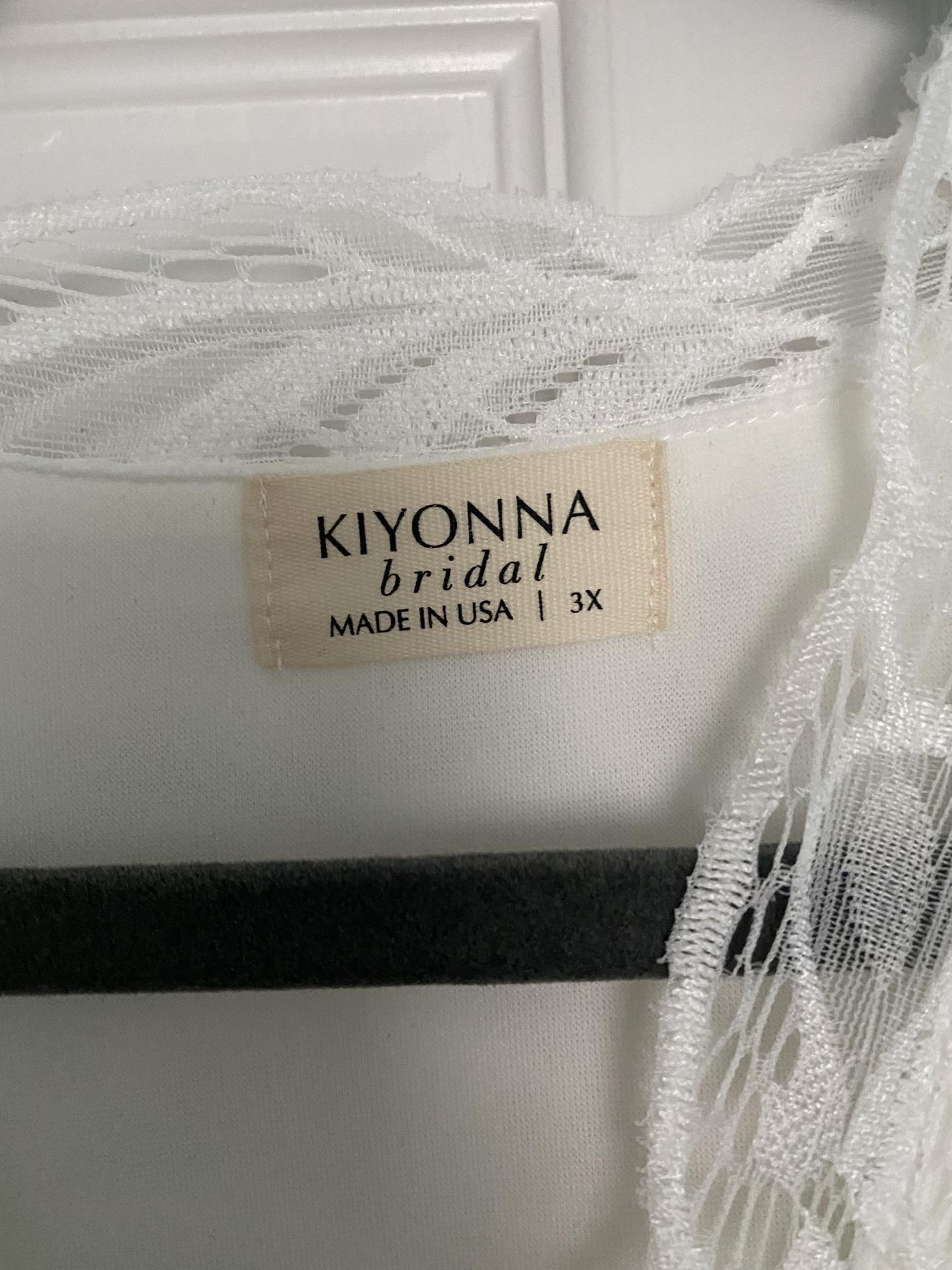 Kiyonna White Size 22 Wedding V Neck A-line Dress on Queenly