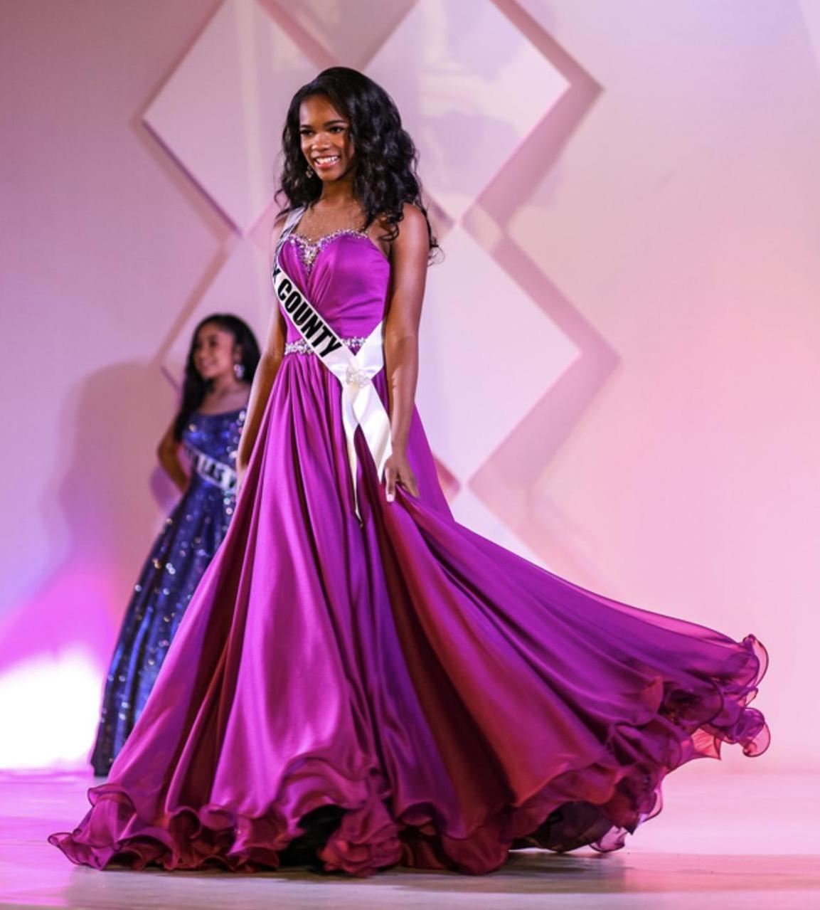 Larissa Couture Purple Size 2 Pageant Tall Height Ball gown on Queenly