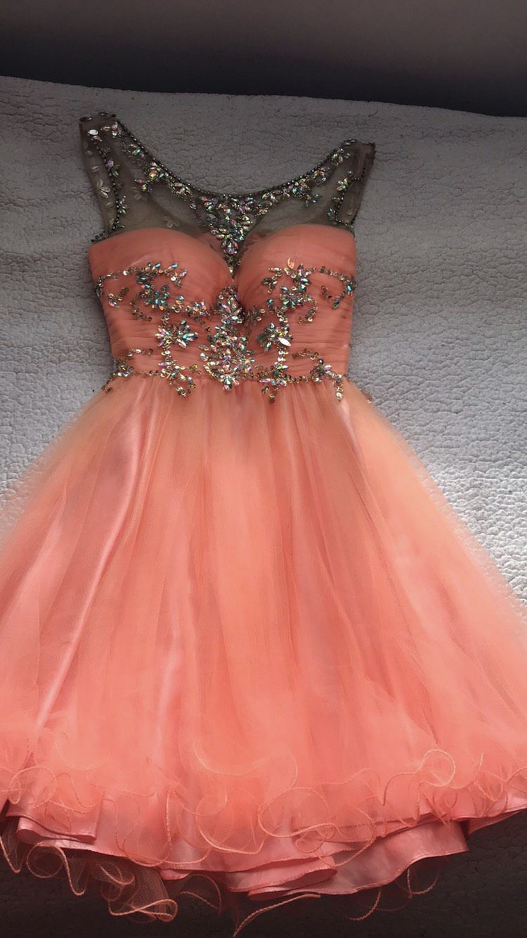 Alyce Paris Orange Size 2 Homecoming Sequin Flare Ball gown on Queenly