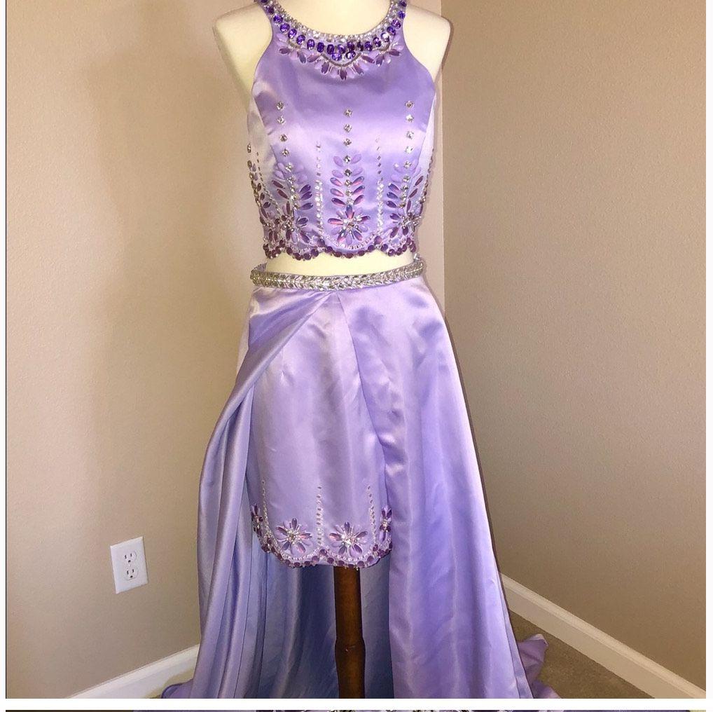 Rachel Allan Light Purple Size 8 Fun Fashion Overskirt Cocktail Dress on Queenly