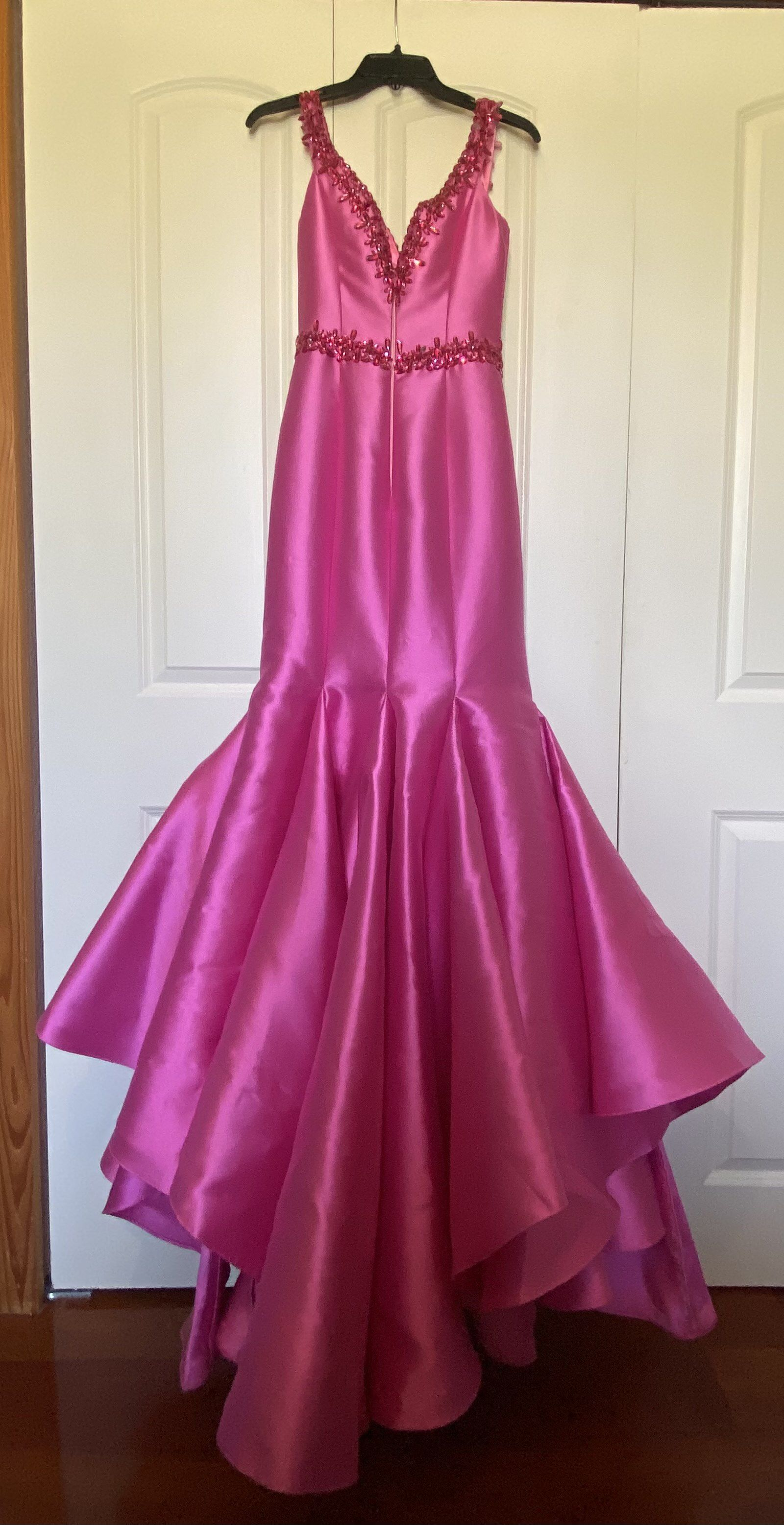 Ritzee Hot Pink Size 2 Pageant Mermaid Dress on Queenly