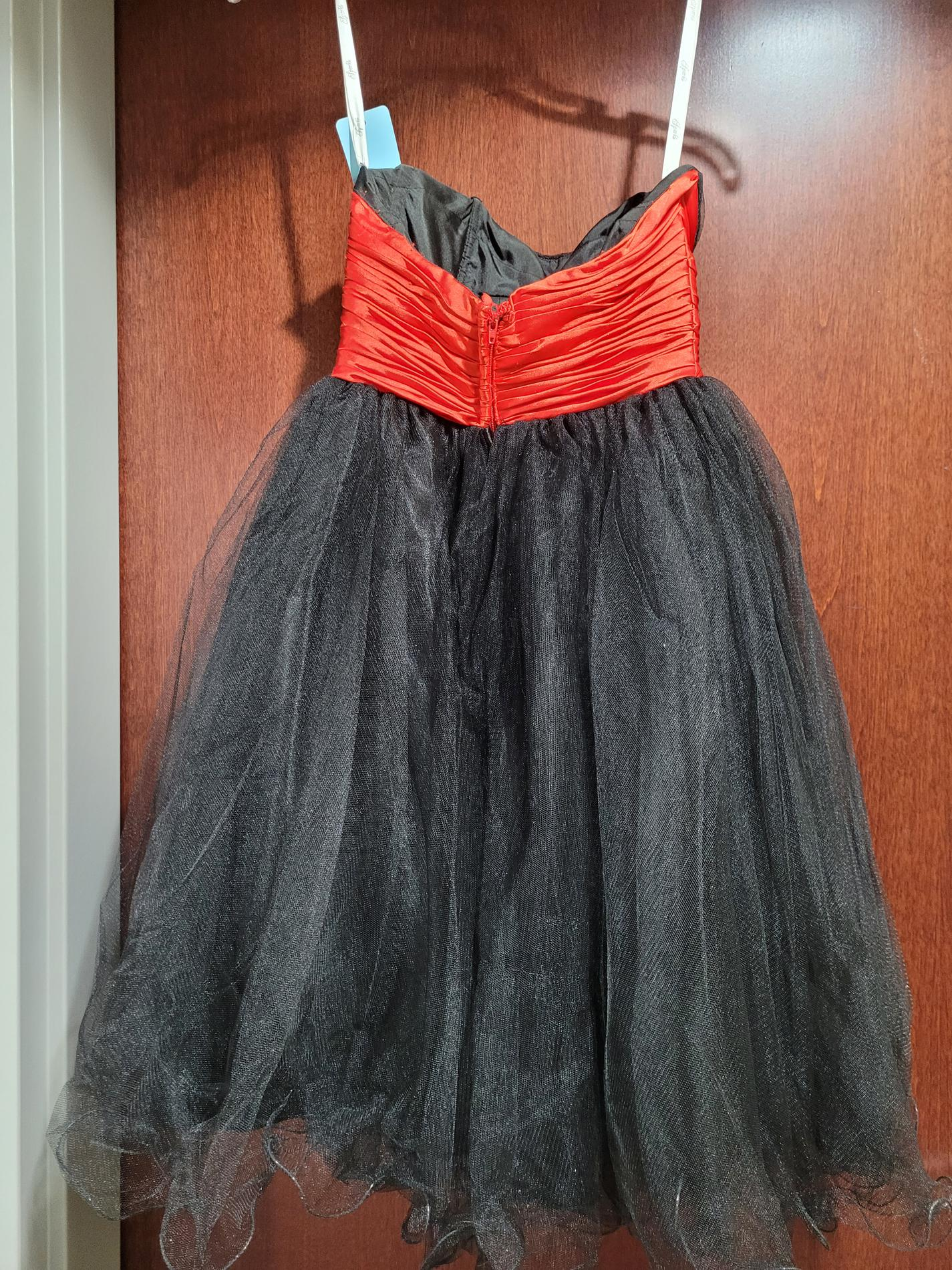 Style HB1384 Sparkle Black Size 0 Strapless Flare Homecoming Cocktail Dress on Queenly