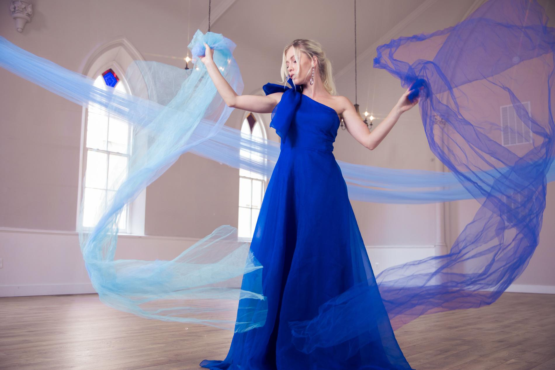 Ramaa Haute Couture Royal Blue Size 4 Pageant Prom A-line Dress on Queenly