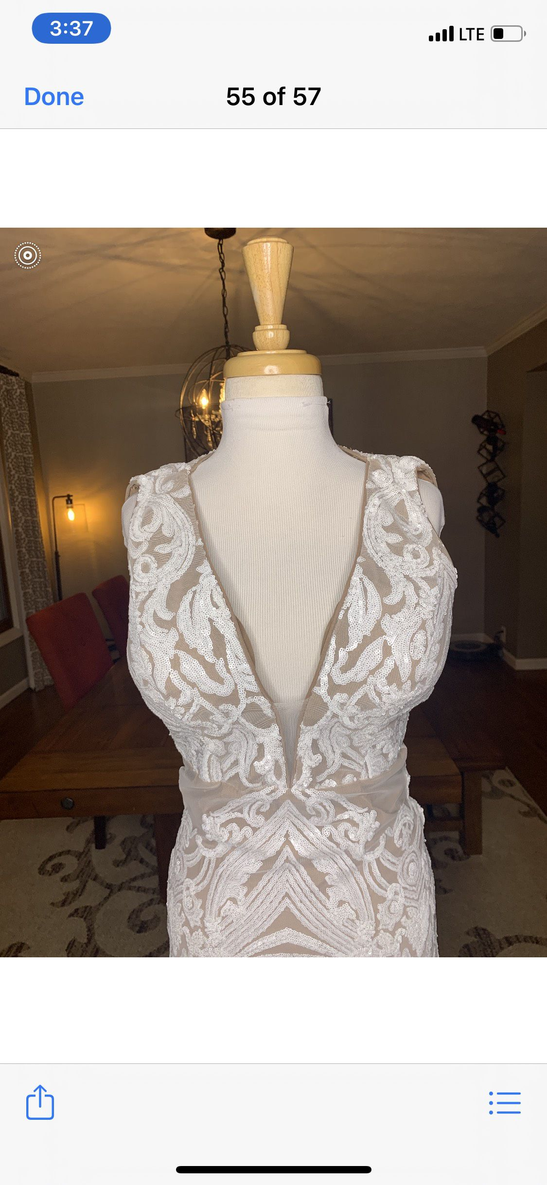 White Size 2 Mermaid Dress on Queenly