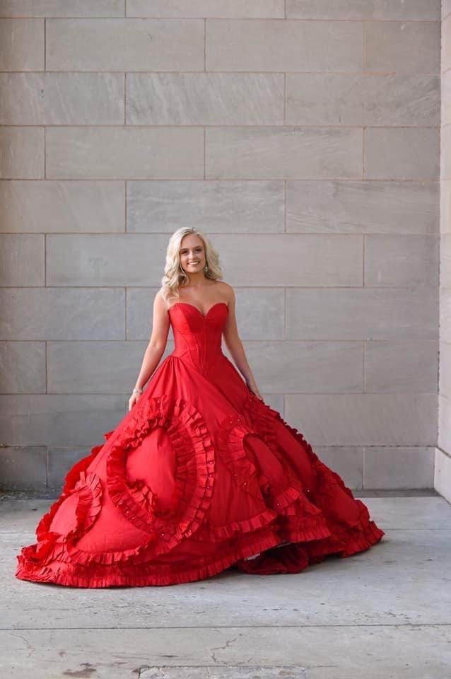 Style 51578 Sherri Hill Red Size 2 Pageant Prom Ball gown on Queenly