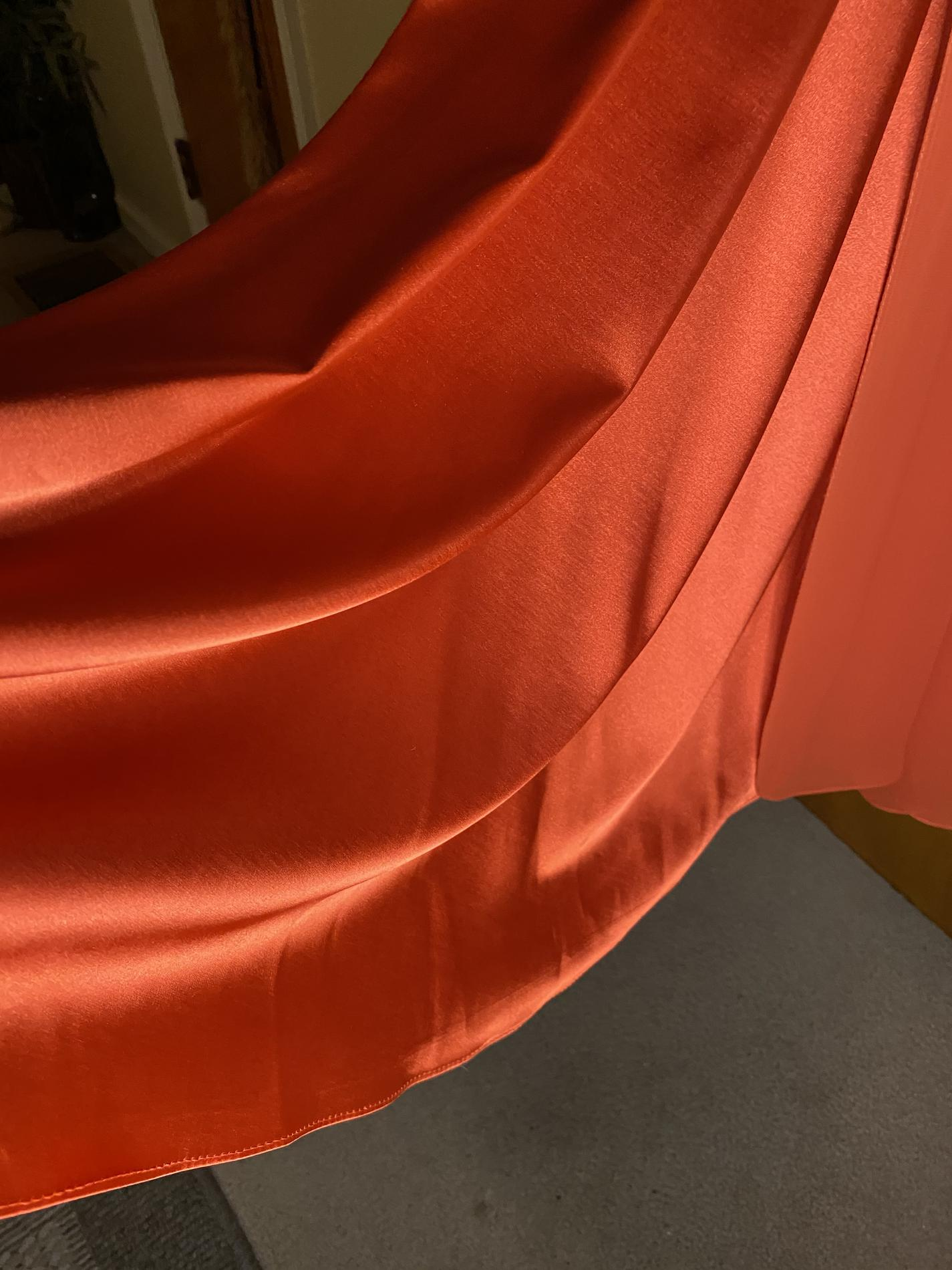 Nox Anabel Orange Size 8 Pageant Prom Tulle Jewelled Side slit Dress on Queenly