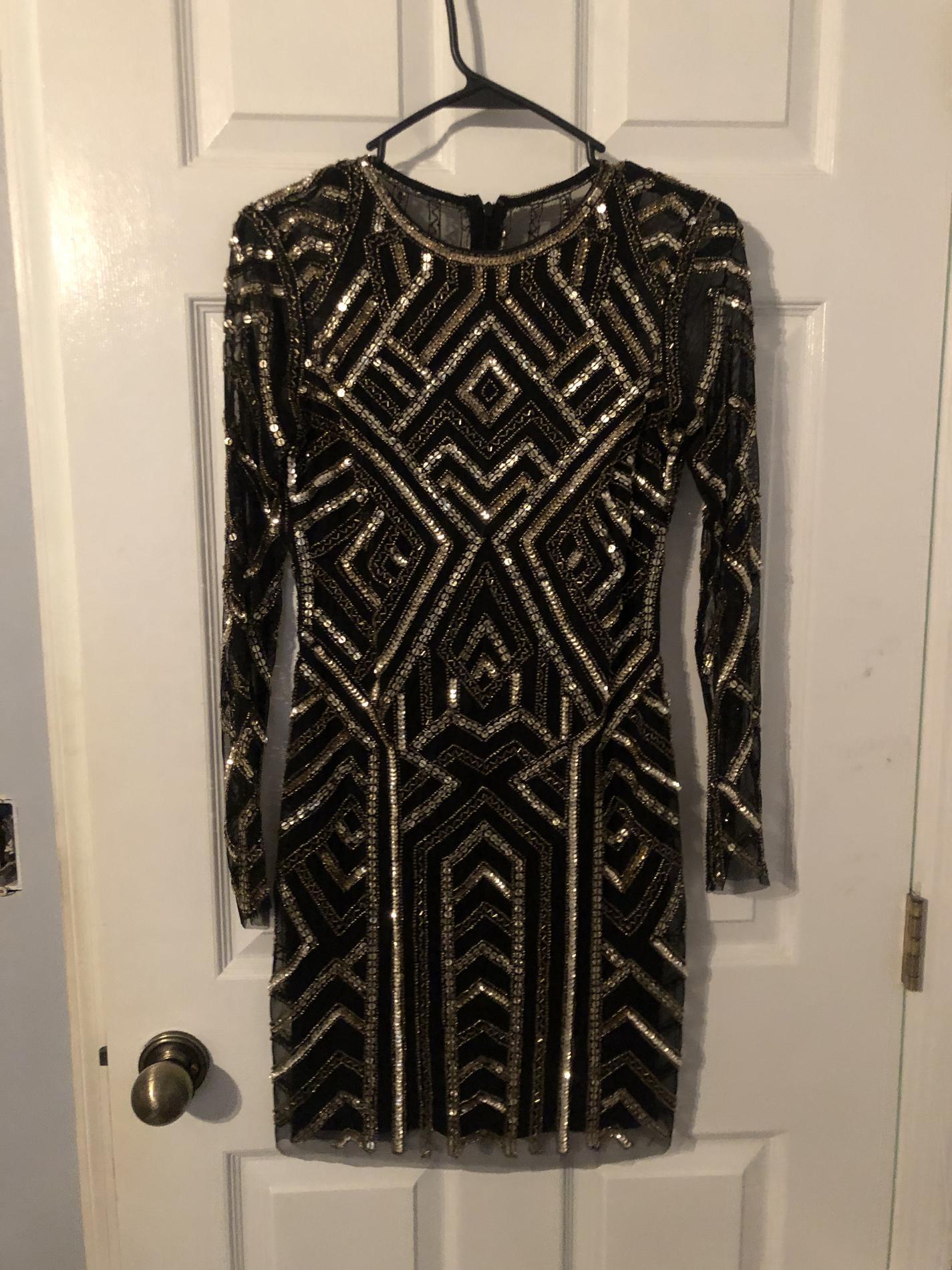 Gianni Bini Black Size 4 Sorority Formal Mini Bodycon Cocktail Dress on Queenly
