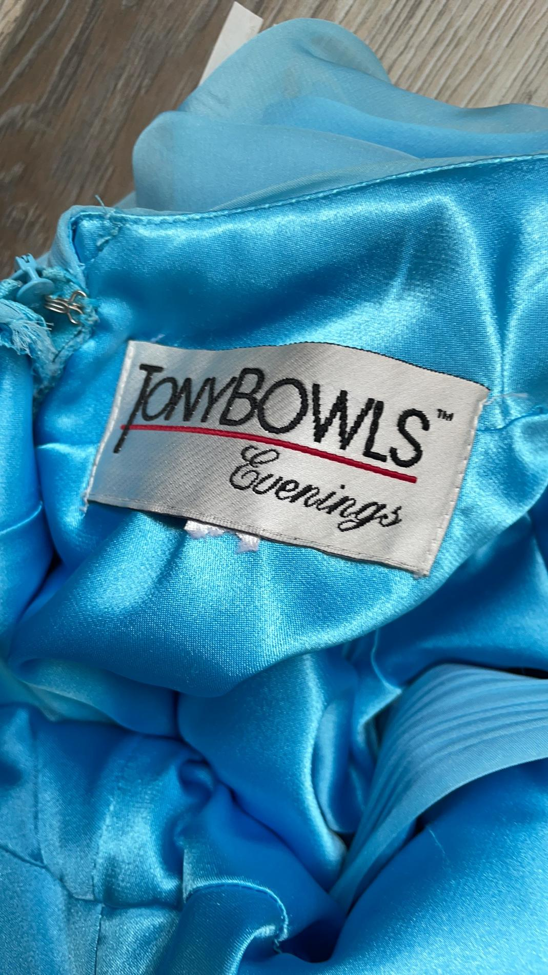 Tony Bowls Light Blue Size 4 Pageant A-line Dress on Queenly