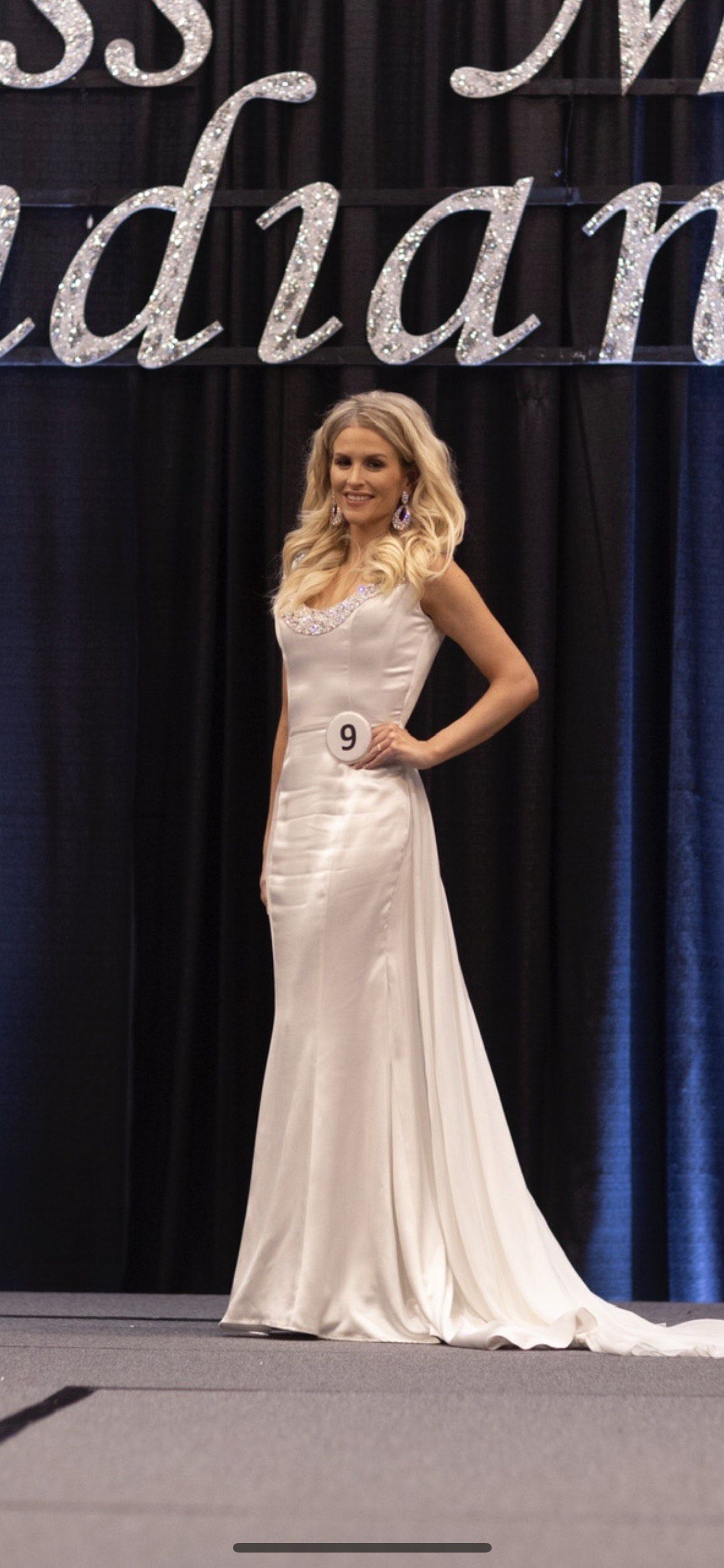 Shawn Yearick White Size 2 Fitted Pageant Custom Train Dress on Queenly