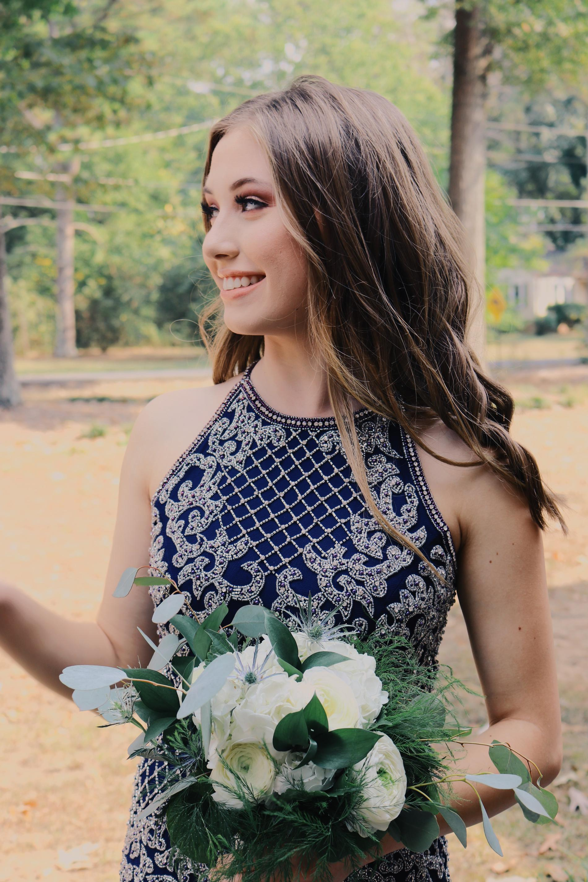 Sherri Hill Blue Size 4 Fully-beaded Mini Bodycon Homecoming Cocktail Dress on Queenly