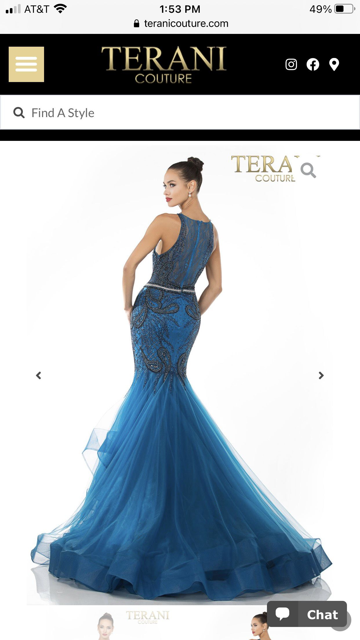 Terani Couture Blue Size 4 Train Pageant A-line Dress on Queenly