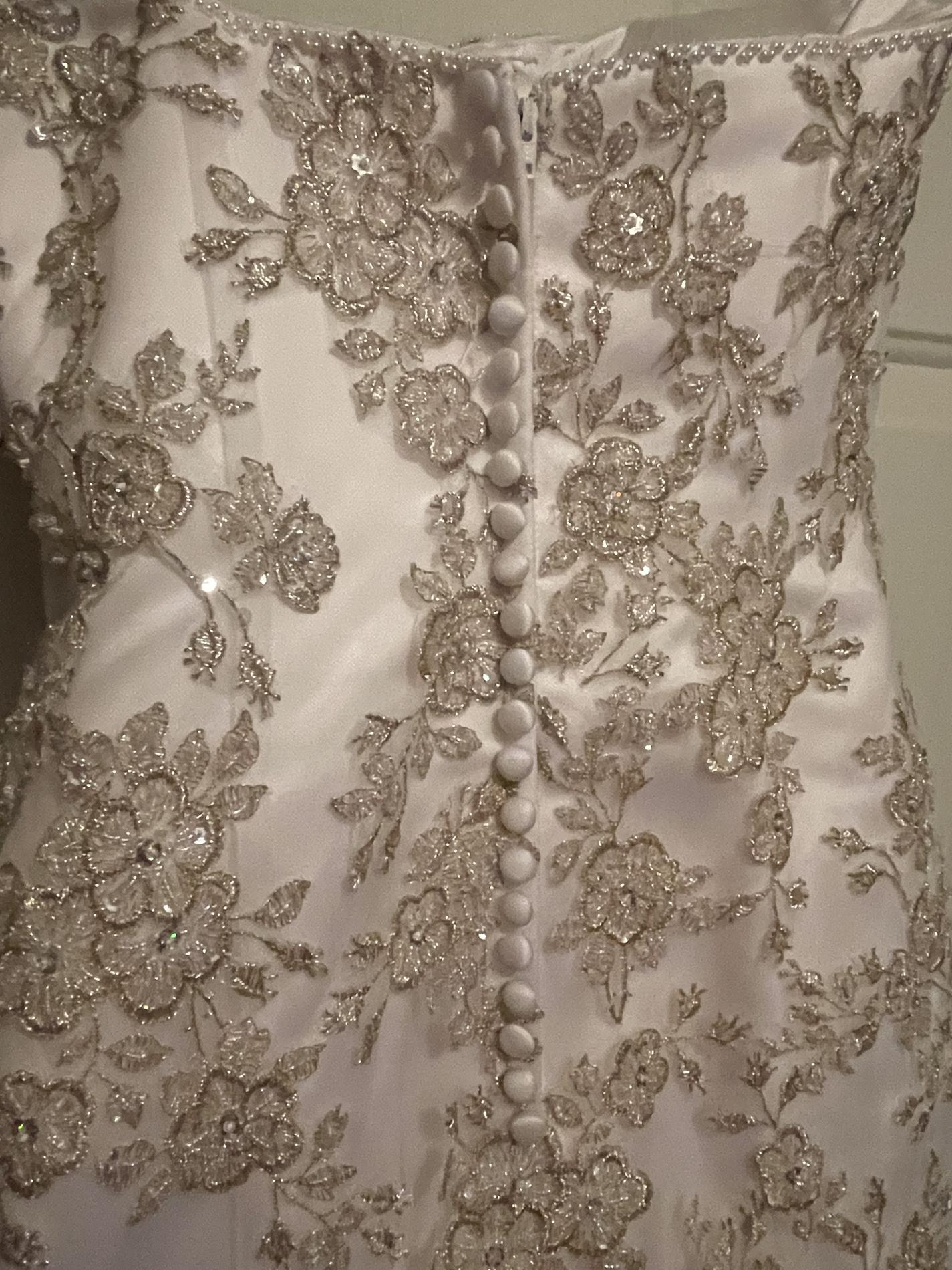 Tiffany Designs White Size 14 Lace Pageant Wedding Mermaid Dress on Queenly