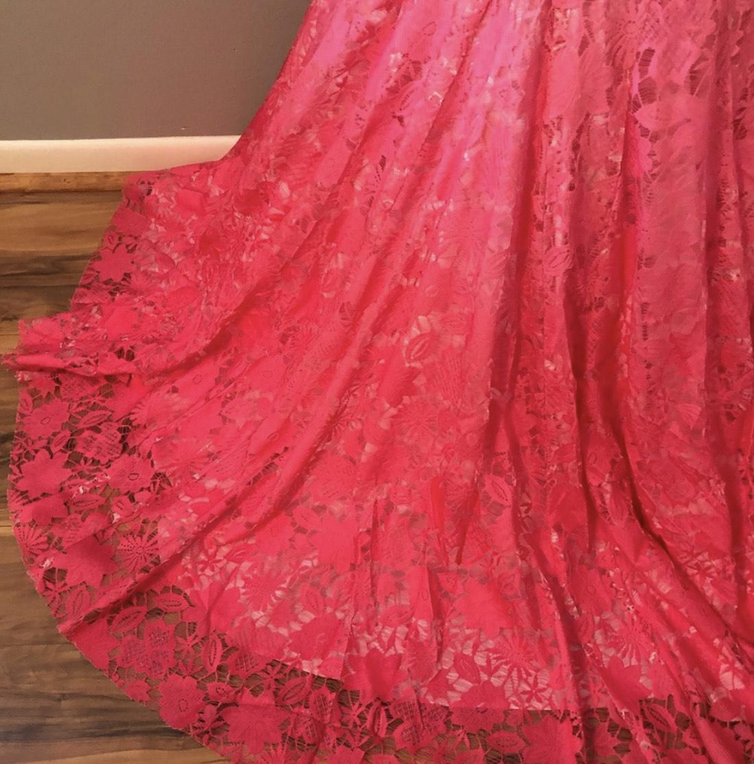 Jovani Pink Size 10 Ombre Pageant Mermaid Dress on Queenly
